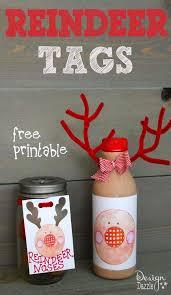 free reindeer tag printables reindeer nose donut recipe
