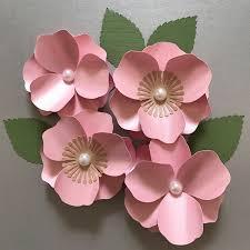 paper flower cherry blossom paper flower paper flower template flower