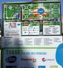 taste of chicago map 2013 taste of chicago layout map directory picture of taste of