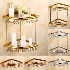 Corner Bathroom Shelving Hanging Triangle Wire Corner Bathroom Shelves