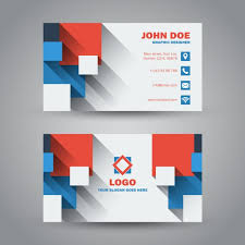 Flat Design Business Card Flat Modern Business Card With Long Shadow Vector Free Download