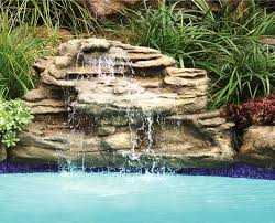rock waterfalls for pools swimming pool rock waterfalls kits fountains and boulders
