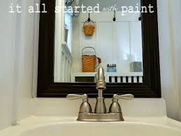 How To Frame A Bathroom Mirror Mirror Mirror On The Wall It All Started With Paint