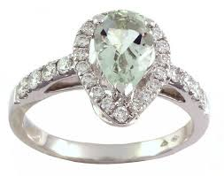 green amethyst engagement ring buy 0 42 ct white gold green amethyst ring antwerp or