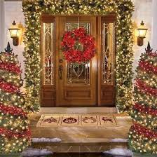 garlands with lights outdoor happy holidays