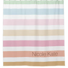 Pastel Coloured Curtains Modern Pastel Colors Custom Monogram Shower Curtain Shower