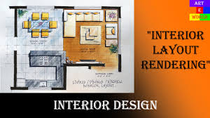 35 manual rendering 2d interior design layout tutorial demo