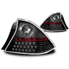 2001 honda civic tail lights 2001 2003 honda civic 2dr led tail light black clear
