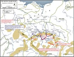 Map Of Europe 1600 Of The Seven Years War Bohemia 1757