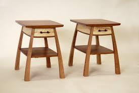 bulging bedside table one drawer steven white woodworking