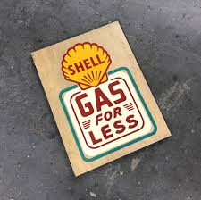 porsche garage decor shell u201cgas for less u201d artwork car bone pl