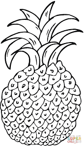 pineapple 6 coloring page free printable coloring pages
