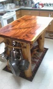 handmade kitchen island backwoods cedar home