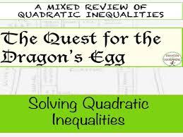 solving quadratic inequalities quest activity