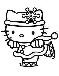 kitty christmas coloring pages kitty christmas