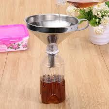 entonnoir cuisine en acier inoxydable large bouche canning entonnoir trémie filtre