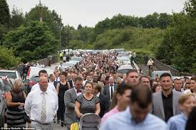 light and life church gypsy funeral for davey jones in staffordhsire sees 5 000 travellers
