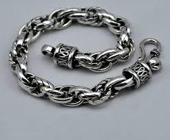 antique sterling silver bracelet images 925 sterling silver chain link bracelets vintage jewelry thai jpg