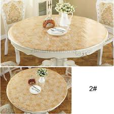 dining table cover clear pvc round clear soft glass tablecloth dining table coffee table