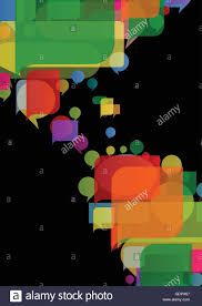 Continent World Map by America Continent World Map Made Of Colorful Speech Bubbles Stock