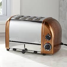 Duralit Toaster Dualit Newgen 4 Slice Copper Toaster Crate And Barrel
