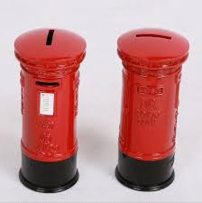 mailbox craft pillar box piggy bank mailbox models desk decoration