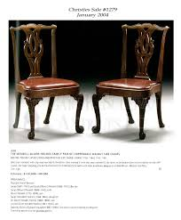 Chippendale Dining Room Chairs by Pair Of Early Chippendale Dining Chairs Boston Mass Furniture