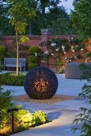 landscape lighting design garden outdoor globe pendant light