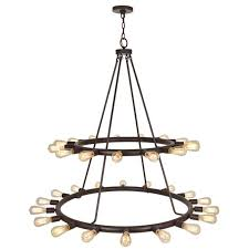 Exposed Bulb Chandelier Industrial Exposed Bulb Chandelier Large Shades Of Light