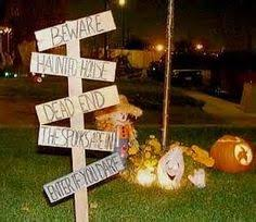 Simple Outdoor Halloween Decorations by Easy Homemade Halloween Decorations For Outside Halloween Crafts