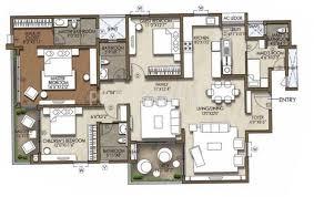2260 sq ft 3 bhk floor plan image brigade cosmopolis available