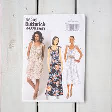 simple tie shoulder dress pattern b6205 sew crafty