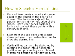 how to sketch a horizontal line ppt video online download