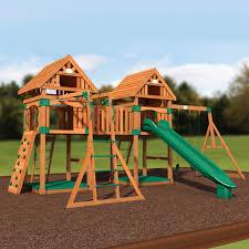 kings peak wooden swing set swing set backyard discovery