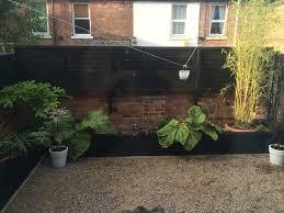garden sleeper 1 2m black garden sleepers u0026 raised bed kits