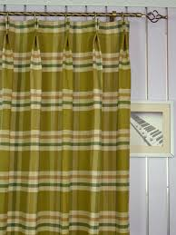 extra wide hudson large plaid double pinch pleat curtains 100