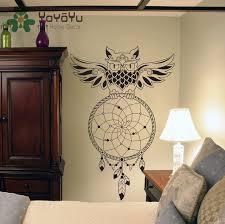 owl home decor dream catcher wall decal owl dreamcatcher wall art sticker home
