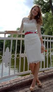 fitted style short wedding dress with lace jacket m34 romantic