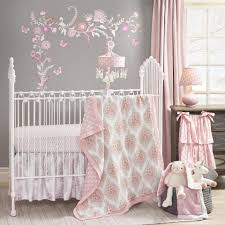 Pink And Gray Nursery Bedding Sets by Lambs U0026 Ivy Pink Gray Happi Charlotte Floral 4 Piece Crib Bedding