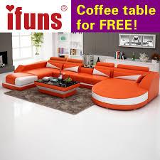 Leather Reclining Sofa Sets Ifuns Modern Luxury U Shaped Design Sofa Set Genuine Leather Sofa