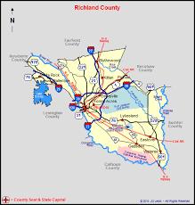 map of columbia south carolina richland county south carolina