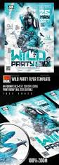 wild party flyer template party flyer flyer template and fonts