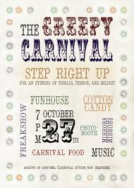creepy circus carnival halloween party invitation creepy