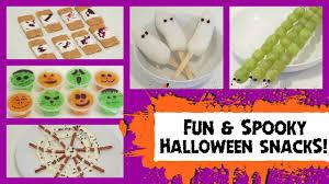 Fun Halloween Snacks For Preschoolers Fun Diy Halloween Snacks For Kids Quick U0026 Easy Youtube