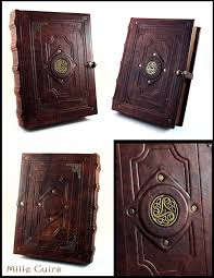 leather photo book celtic triskell leather book by millecuirs on deviantart