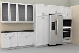 Kitchen  Modern Kitchen Cabinet With Dark Frosted Glass And White - Kitchen cabinets with frosted glass doors