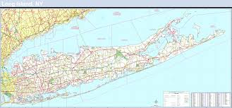 Suffolk County Map Long Island Laminated Wall Map For 195 00 At Mcmaps Com