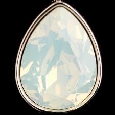 white opal crystal white opal swarovski crystal element teardrop leverback earrings 9602