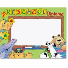 preschool certificates preschool diploma classroom certificates paperdirect