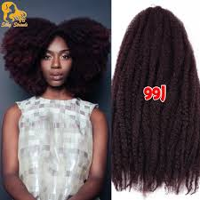 Curly Braiding Hair Extensions by 18 U0027 U0027 20roots Marley Braid Hair Synthetic Afro Curly Crochet